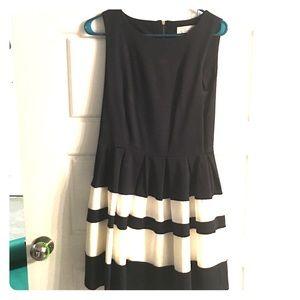 Closet ModCloth Navy A-Line Stripe Detail Dress